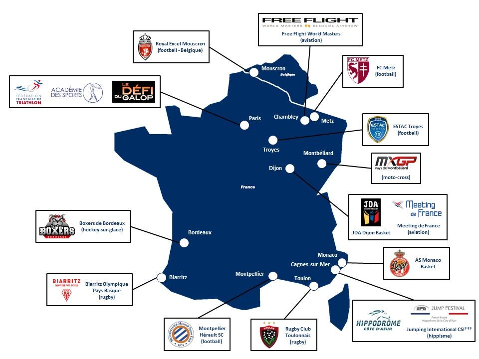 Carte de France clients SVA novembre 2017
